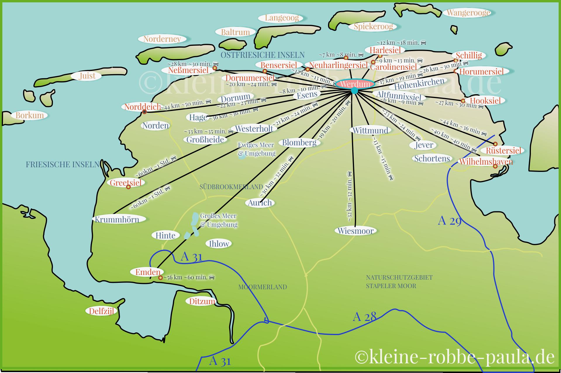 xxl-karte-ostfriesland-entfernungen-km-werdum